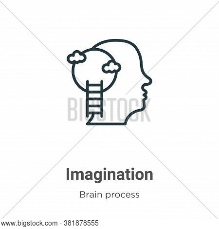 Imagination icon isolated on white background from brain process collection. Imagination icon trendy