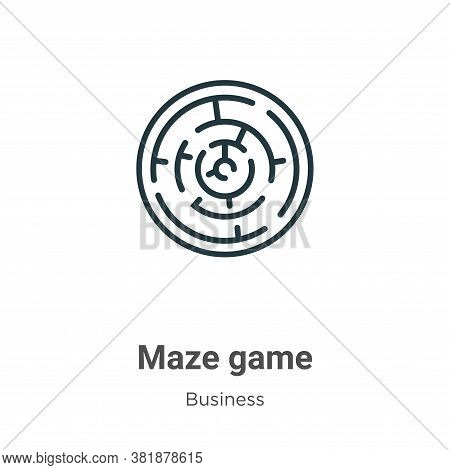 Maze game icon isolated on white background from business collection. Maze game icon trendy and mode