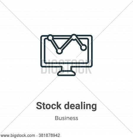 Stock dealing icon isolated on white background from business collection. Stock dealing icon trendy