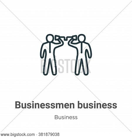 Businessmen business communication techniques icon isolated on white background from  collection. Bu