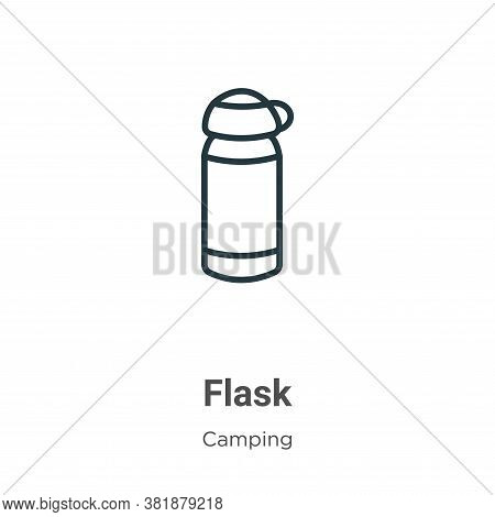 Flask icon isolated on white background from camping collection. Flask icon trendy and modern Flask