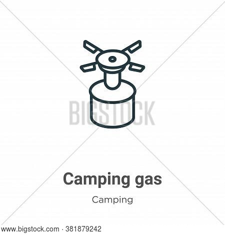 Camping gas icon isolated on white background from camping collection. Camping gas icon trendy and m