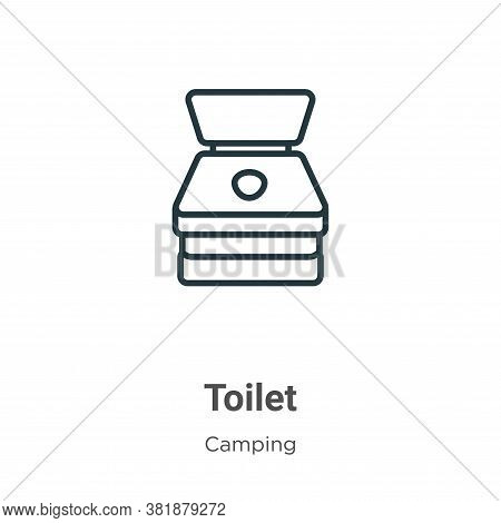 Toilet icon isolated on white background from camping collection. Toilet icon trendy and modern Toil