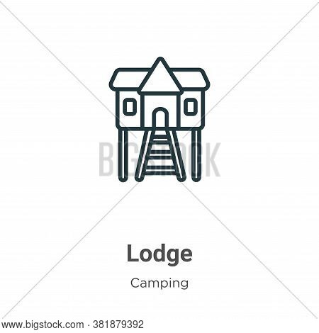 Lodge Icon From Camping Collection Isolated On White Background.