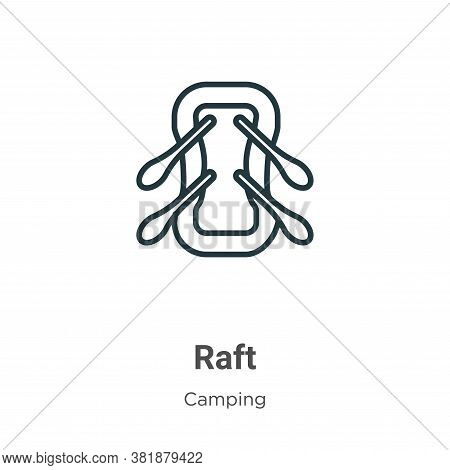 Raft icon isolated on white background from camping collection. Raft icon trendy and modern Raft sym