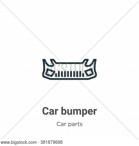 Car bumper icon isolated on white background from car parts collection. Car bumper icon trendy and m
