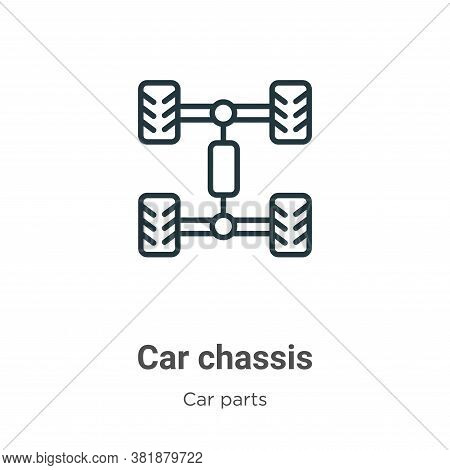 Car chassis icon isolated on white background from car parts collection. Car chassis icon trendy and