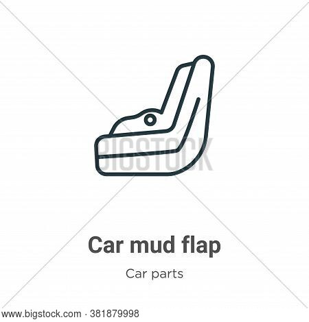 Car mud flap icon isolated on white background from car parts collection. Car mud flap icon trendy a