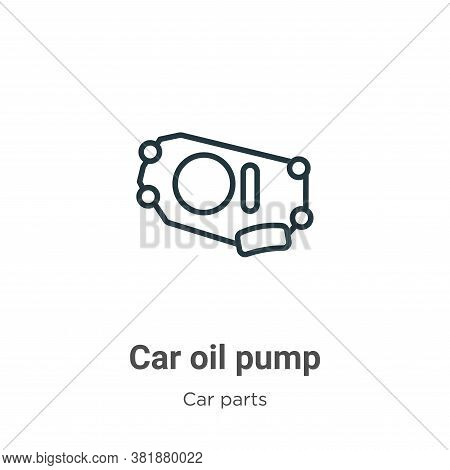 Car oil pump icon isolated on white background from car parts collection. Car oil pump icon trendy a