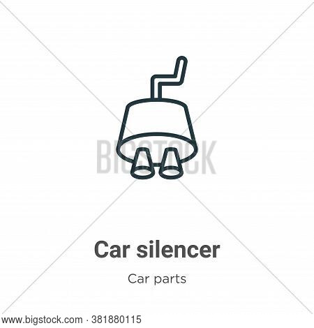 Car silencer icon isolated on white background from car parts collection. Car silencer icon trendy a