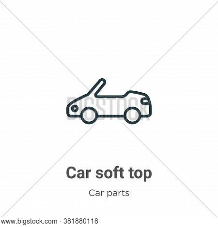 Car soft top icon isolated on white background from car parts collection. Car soft top icon trendy a