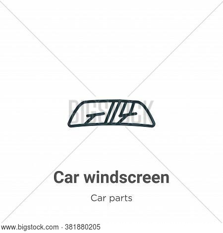 Car windscreen icon isolated on white background from car parts collection. Car windscreen icon tren
