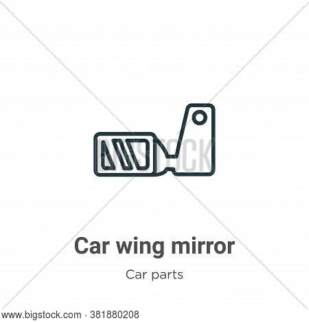 Car wing mirror icon isolated on white background from car parts collection. Car wing mirror icon tr