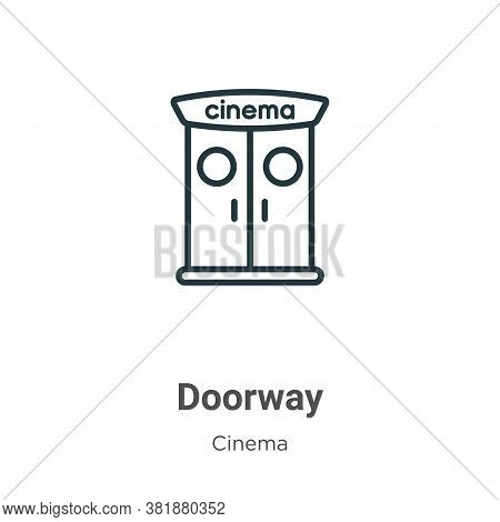 Doorway icon isolated on white background from cinema collection. Doorway icon trendy and modern Doo