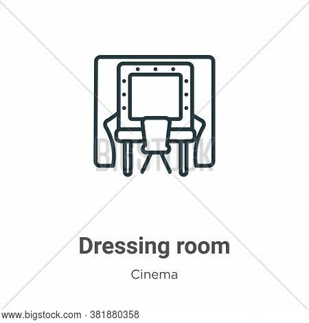 Dressing room icon isolated on white background from cinema collection. Dressing room icon trendy an