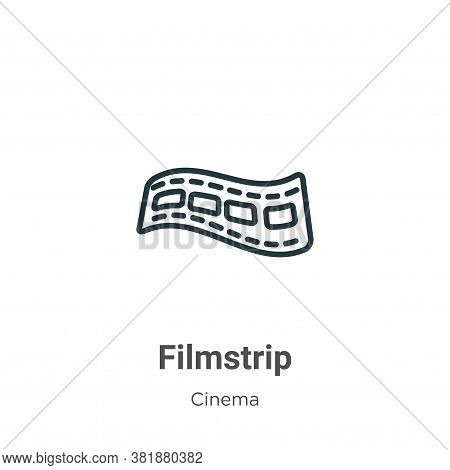Filmstrip icon isolated on white background from cinema collection. Filmstrip icon trendy and modern