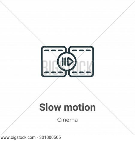 Slow motion icon isolated on white background from cinema collection. Slow motion icon trendy and mo