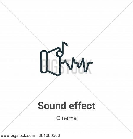 Sound effect icon isolated on white background from cinema collection. Sound effect icon trendy and