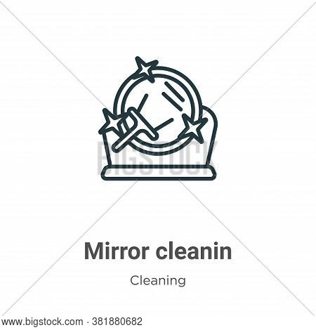 Mirror cleanin icon isolated on white background from cleaning collection. Mirror cleanin icon trend