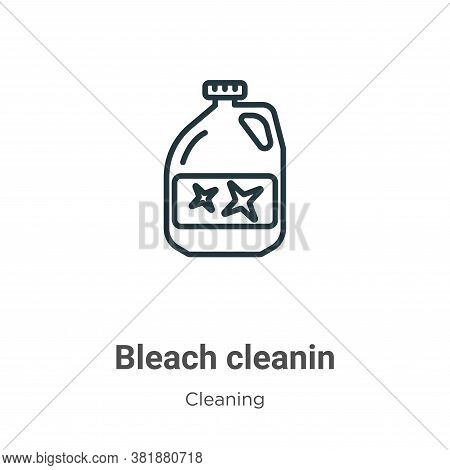 Bleach cleanin icon isolated on white background from cleaning collection. Bleach cleanin icon trend