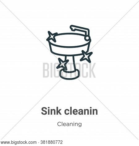 Sink cleanin icon isolated on white background from cleaning collection. Sink cleanin icon trendy an