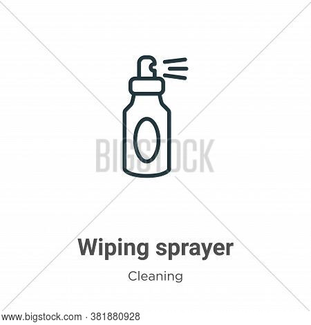 Wiping sprayer icon isolated on white background from cleaning collection. Wiping sprayer icon trend