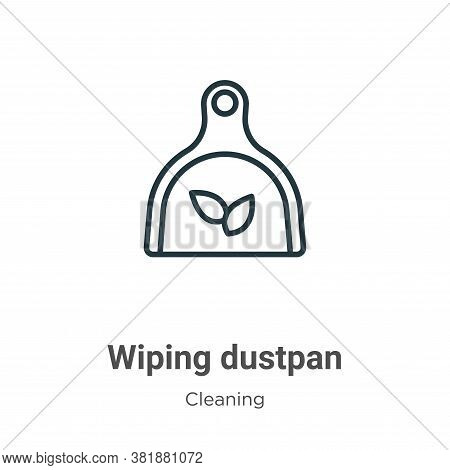 Wiping dustpan icon isolated on white background from cleaning collection. Wiping dustpan icon trend