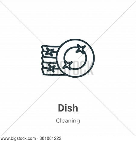 Dish icon isolated on white background from cleaning collection. Dish icon trendy and modern Dish sy