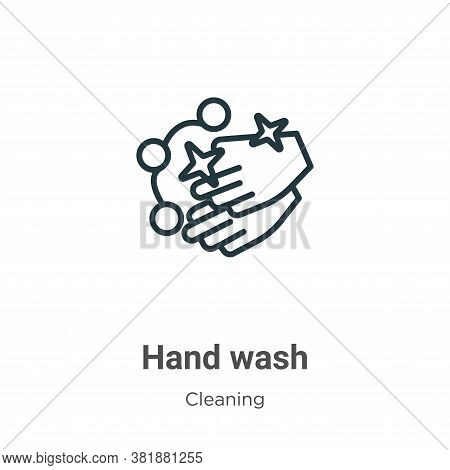 Hand wash icon isolated on white background from cleaning collection. Hand wash icon trendy and mode