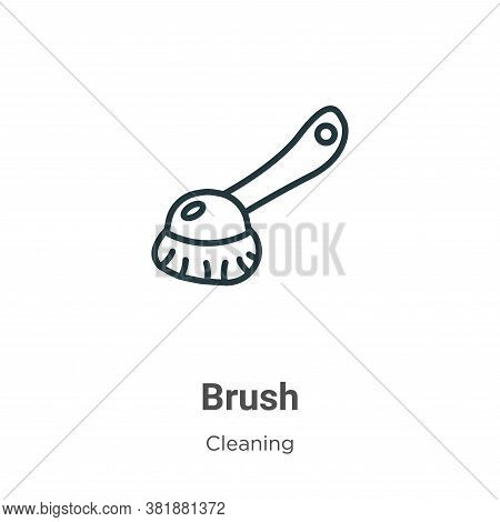 Brush icon isolated on white background from cleaning collection. Brush icon trendy and modern Brush