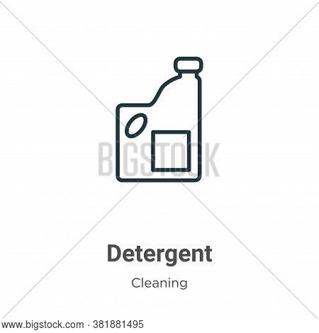 Detergent icon isolated on white background from cleaning collection. Detergent icon trendy and mode