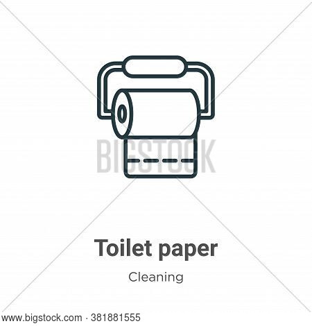 Toilet paper icon isolated on white background from cleaning collection. Toilet paper icon trendy an