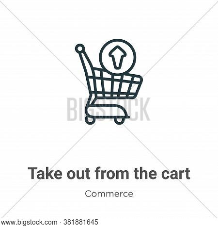 Take out from the cart icon isolated on white background from the cart icon from the cart icon from