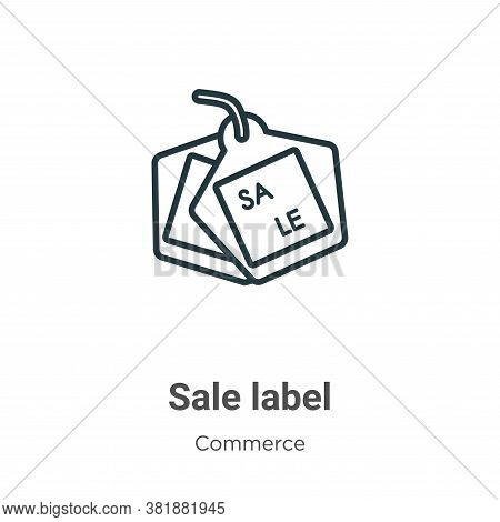Sale label icon isolated on white background from commerce collection. Sale label icon trendy and mo