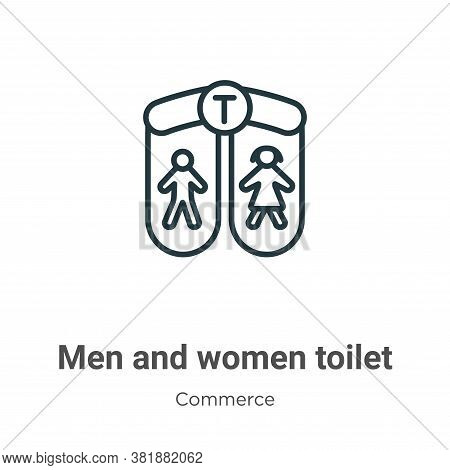 Men and women toilet icon isolated on white background from commerce collection. Men and women toile