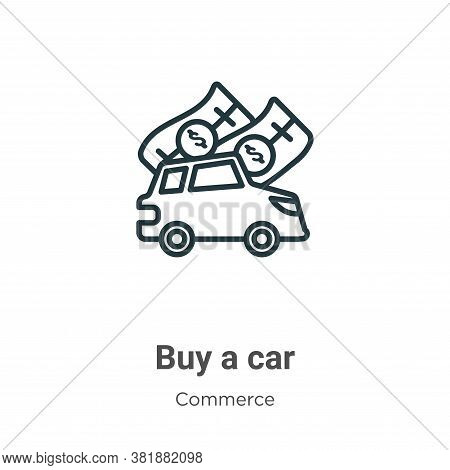 Buy a car icon isolated on white background from commerce collection. Buy a car icon trendy and mode