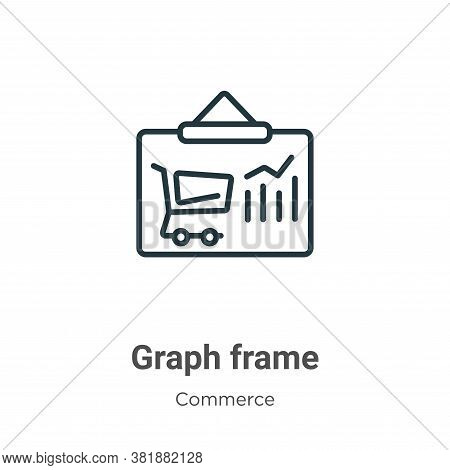 Graph frame icon isolated on white background from commerce collection. Graph frame icon trendy and