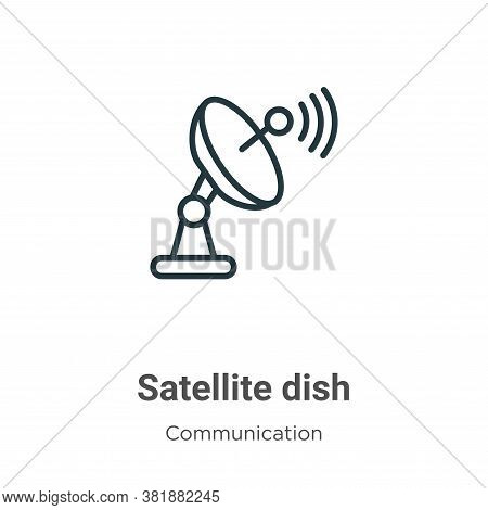 Satellite dish icon isolated on white background from communication collection. Satellite dish icon