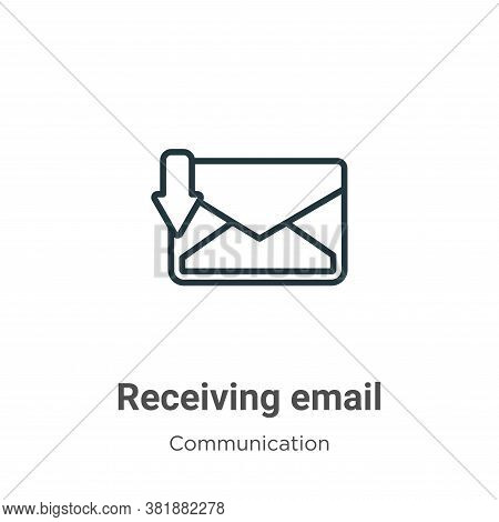 Receiving email icon isolated on white background from communication collection. Receiving email ico