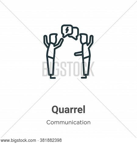 Quarrel icon isolated on white background from communication collection. Quarrel icon trendy and mod