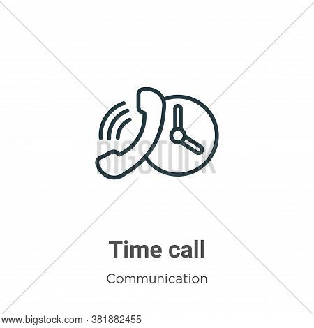 Time call icon isolated on white background from communication collection. Time call icon trendy and