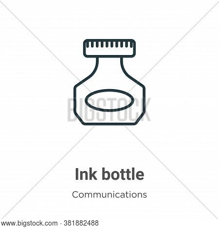 Ink bottle icon isolated on white background from communications collection. Ink bottle icon trendy