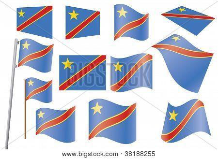 Flag Of DR Congo