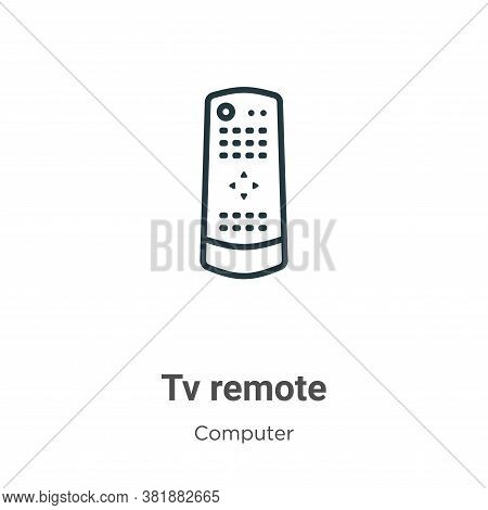 Tv remote icon isolated on white background from computer collection. Tv remote icon trendy and mode