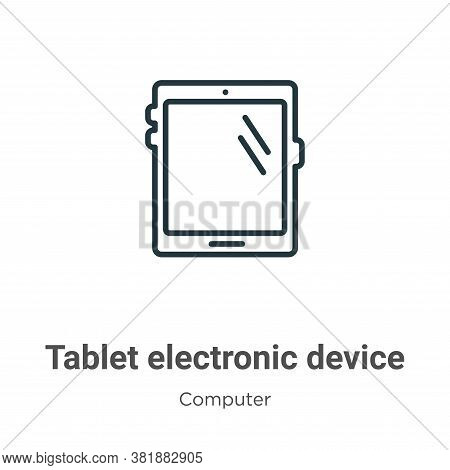 Tablet electronic device icon isolated on white background from computer collection. Tablet electron