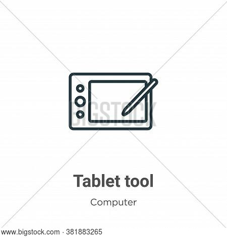 Tablet tool icon isolated on white background from computer collection. Tablet tool icon trendy and