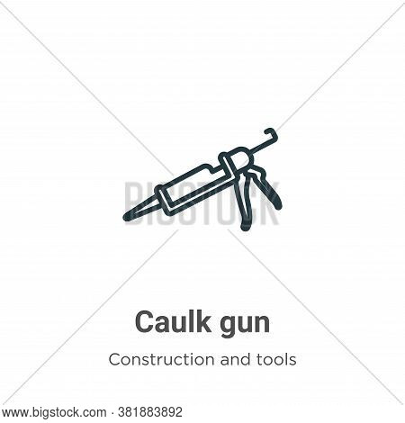 Caulk gun icon isolated on white background from construction and tools collection. Caulk gun icon t