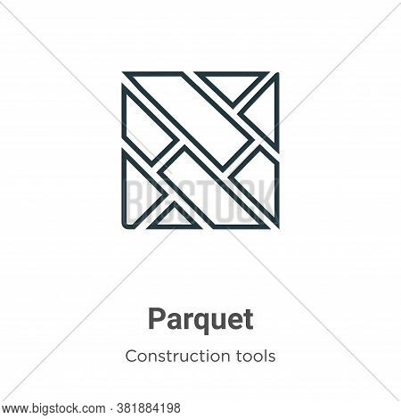 Parquet icon isolated on white background from construction tools collection. Parquet icon trendy an