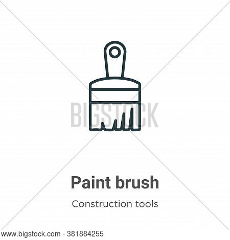 Paint brush icon isolated on white background from construction tools collection. Paint brush icon t