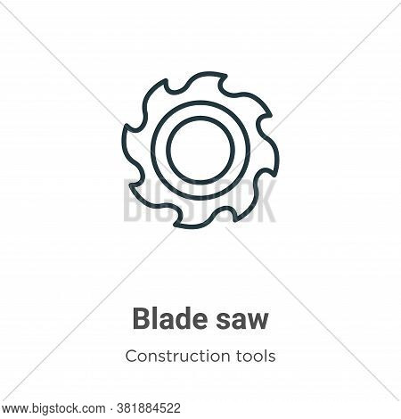 Blade saw icon isolated on white background from construction collection. Blade saw icon trendy and